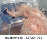 fashionable portrait of... | Shutterstock . vector #527204083