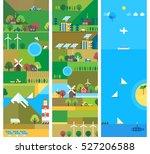 village and landscape flat... | Shutterstock .eps vector #527206588