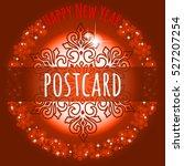 sample of the christmas poster... | Shutterstock .eps vector #527207254