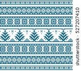christmas seamless strip... | Shutterstock . vector #527207410