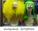 Mannequin With Colorful Wig An...