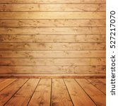 interior wooden room with pine... | Shutterstock . vector #527217070