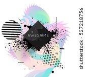 geometric background template... | Shutterstock .eps vector #527218756