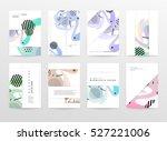 geometric background template... | Shutterstock .eps vector #527221006