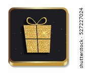 gold glitter shiny gift box... | Shutterstock .eps vector #527227024