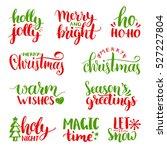 vector handwritten christmas...   Shutterstock .eps vector #527227804