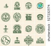 eco friendly icons  labels and... | Shutterstock .eps vector #527232574