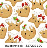 gingerbread ginger cookie... | Shutterstock .eps vector #527233120