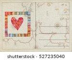 hand drawn back postcard  | Shutterstock . vector #527235040