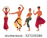 indian dancers in traditional... | Shutterstock .eps vector #527235280