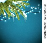 realistic christmas background... | Shutterstock .eps vector #527236810