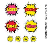 comic boom  wow  oops sound... | Shutterstock .eps vector #527240578
