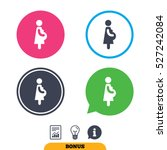 pregnant sign icon. women... | Shutterstock .eps vector #527242084