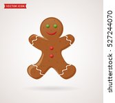 gingerbread man icon. christmas ... | Shutterstock .eps vector #527244070
