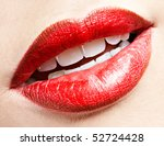 close up of girl's lips zone... | Shutterstock . vector #52724428