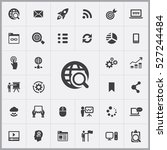 seo icon. digital marketing... | Shutterstock .eps vector #527244484