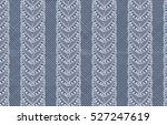set of ribbons with patterned... | Shutterstock . vector #527247619