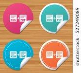 round stickers or website... | Shutterstock .eps vector #527249089