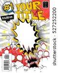 editable comic book cover. | Shutterstock .eps vector #527252200