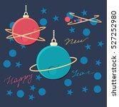 festive happy new year vector... | Shutterstock .eps vector #527252980