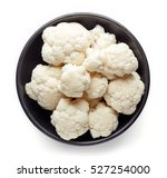 Bowl Of Cauliflower Isolated O...