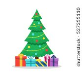 christmas background with... | Shutterstock . vector #527255110