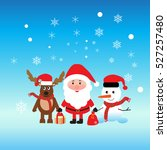 santa claus and merry christmas.... | Shutterstock .eps vector #527257480