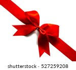 red satin ribbon and bow...   Shutterstock . vector #527259208