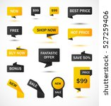 vector stickers  price tag ... | Shutterstock .eps vector #527259406