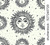 a vintage seamless pattern that ... | Shutterstock .eps vector #527260720
