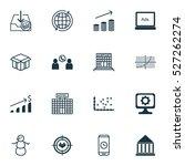 set of 16 universal editable... | Shutterstock .eps vector #527262274