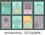 vector set of eco nature labels ... | Shutterstock .eps vector #527262898