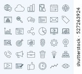line web development icons.... | Shutterstock .eps vector #527263924