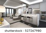 3d rendering of luxury living...   Shutterstock . vector #527267980