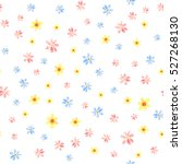 floral seamless pattern with... | Shutterstock . vector #527268130