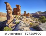 devils kitchen rock formations... | Shutterstock . vector #527269900
