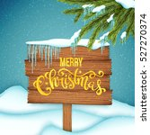 christmas sale poster with hand ... | Shutterstock .eps vector #527270374
