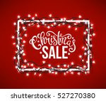 christmas sale poster with hand ... | Shutterstock .eps vector #527270380