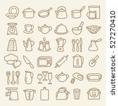 set of modern thin line icons... | Shutterstock . vector #527270410