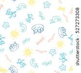 vector hand drawn seamless... | Shutterstock .eps vector #527273308