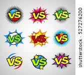comic book versus vintage... | Shutterstock .eps vector #527276200