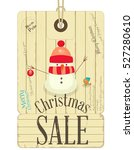 christmas sale tag in vintage...   Shutterstock .eps vector #527280610