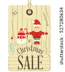 christmas sale tags in vintage...   Shutterstock .eps vector #527280634