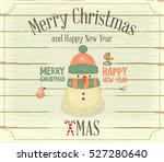christmas and new year card....   Shutterstock .eps vector #527280640