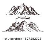 Mountains Sketch. Hand Drawn...