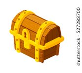 treasure chest for game. wooden ... | Shutterstock .eps vector #527283700