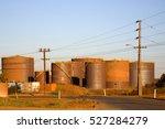Bulk Fuel Tanks In A Scruffy...