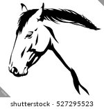 black and white linear paint... | Shutterstock .eps vector #527295523