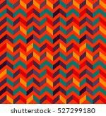 multicolor zigzag seamless... | Shutterstock .eps vector #527299180