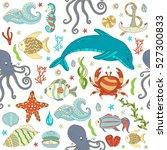 vector seamless pattern... | Shutterstock .eps vector #527300833